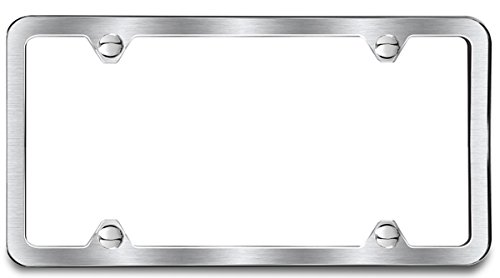 Amazon.com: Brushed Finish License Plate Frame 4 Hole: Automotive