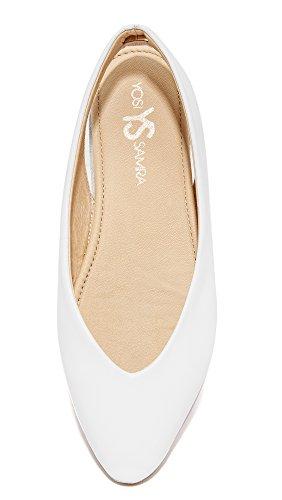 Women's Venus Ballet White Samra Yosi Flat SEq5n