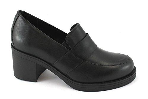 IGI CO 88290 Black Women's Moccasin Shoe Leather Heel Shoes Nero zY1ODe2