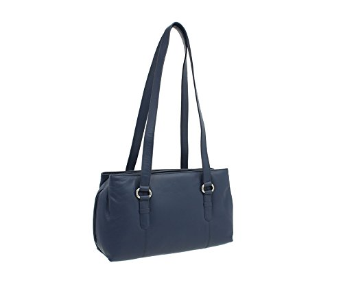 734 Shoulder Zip Navy Mala Triple Collection Bag Leather 30 Purple Lucy wR6qxB0a
