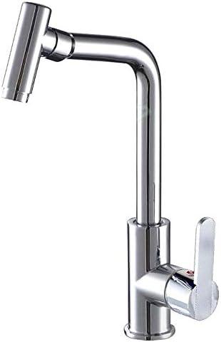 水タップ便利なシルバーバスルームキッチンシンクの蛇口、360度のホットとコールドの二重回転蛇口、銅合金材料、レンチスイッチ、セラミックバルブコア実用的なキッチンバスルーム用品キッチンバスルーム用品