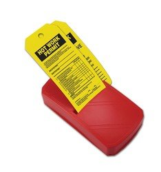 Accuform TDR186 Quick Tags Inspection and Status Record Tag Dispenser,''HOT WORK PERMIT'', 8'' Length x 4'' Width, x 1.75'' Depth, Red Plastic(Pack of 100)