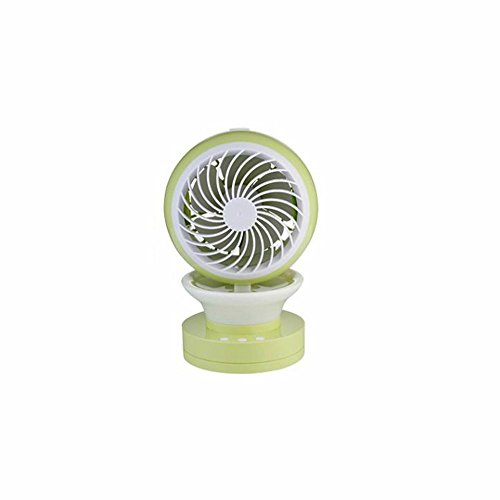 MyEasyShopping Jingle Air Conditioning Spray Fan Office USB Charge Fan Beauty Dampness Solution Summer Distress Fresh Green by MyEasyShopping