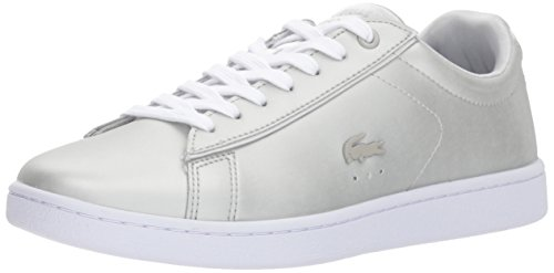 Lacoste Women's Carnaby EVO 118 1 Spw Sneaker, Light Grey/White, 9 M US