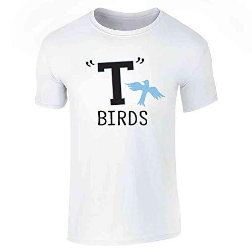 T Birds Gang Logo Costume Retro 50s 60s White XL Short Sleeve T-Shirt -