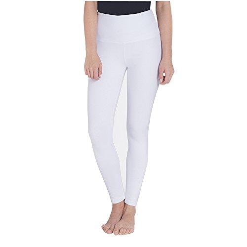 Pant Crop Cuffed (Lysse Women's Boyfriend Cuffed Crop Legging Pants Style#1219 White L)