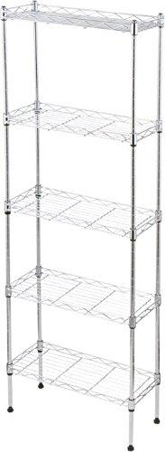 47'' Adjustable 5-Tier Storage Shelf Unit - Steel by Trademark Innovations