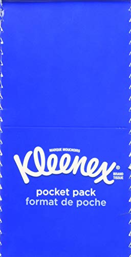 Kleenex 3-Ply Pocket Packs Facial Tissues, 48 Packs of 10 Tissues