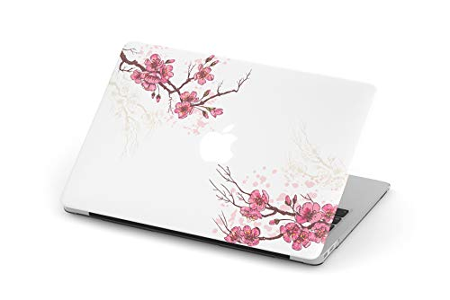 (MacBook Case Art Design Protective Shell Sleeve Plastic Hard Pro Air Mac 11 12 13 15 inch Case for MacBook (Air 13 (A1369 & A1466), Sakura Cherry Blossom Flowers) )