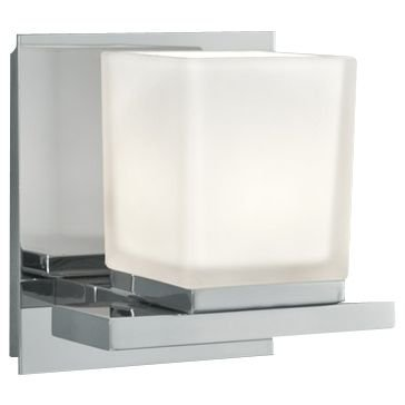 Norwell Lighting 5311-CH-MO Icereto - One Light Wall Sconce, Glass: Matte Opal, Finish: CH: (Norwell Nickel Sconce)
