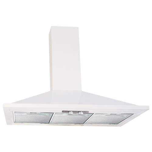 Air King ESVAL36 ENERGY STAR Qualified 36'' Wall Mount Range Hood with 3 Speed M, White by Air King