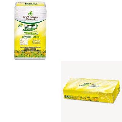 KITMRC28CTMRC2930 - Value Kit - MarcalPro 100% Recycled Beverage Napkins (MRC28CT) and MarcalPro 100% Premium Recycled Facial Tissue (MRC2930) (Marcal Beverage Napkin)