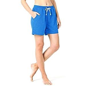 Naviskin Women's Active Fitness Yoga Shorts Bermuda Shorts with Big Pockets Home Workout Casual Shorts