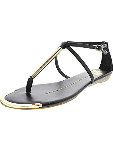 DV by Dolce Vita Women's Archer Flat Sandal, Black Stella, 6 M US