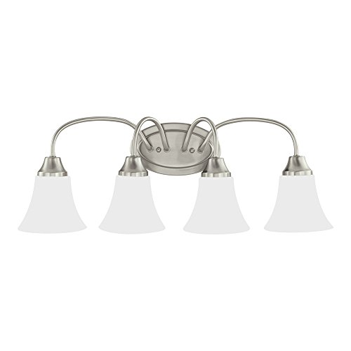 Sea Gull Lighting 44806-962 Holman Two-Light Wall Bath Vanity Style Lights, Brushed Nickel