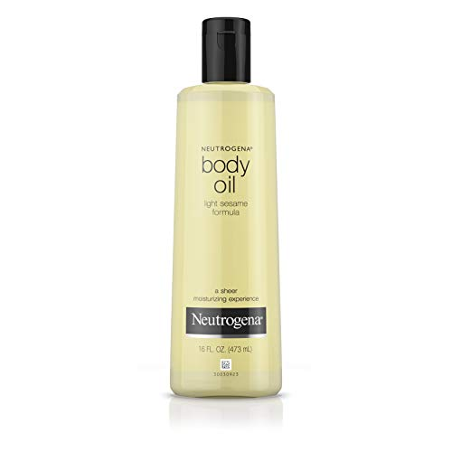 ht Body Oil for Dry Skin, Sheer Moisturizer in Light Sesame Formula, 16 fl. oz ()
