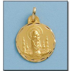 Médaille D'or 18kt Vierge Del Pilar 19mm