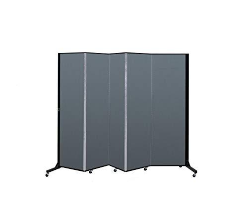 Screenflex BFSL685-BB Light Duty Portable Room Divider, 5 Panels