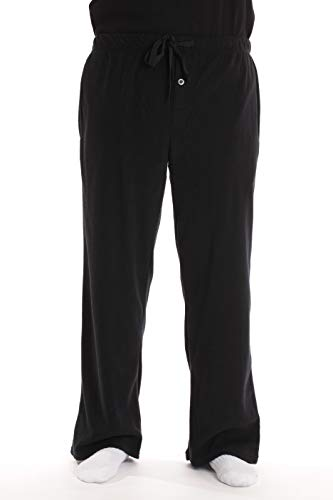 #followme Polar Fleece Pajama Pants for Men Sleepwear PJs 45902-BLK-S Black
