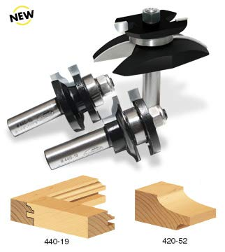 - Timberline TRS-270 Cove Raised Panel 1/2-Inch Shank Door Making Router Bit Set with Back Cutter, 3-Piece