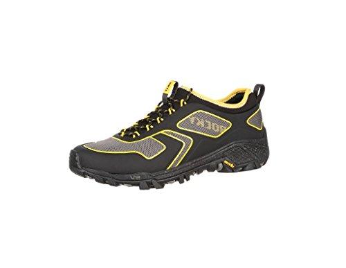 Mens Da Uomo In Neoprene 4 Runner In Neoprene, Sneakers In Mesh Nero Grigio