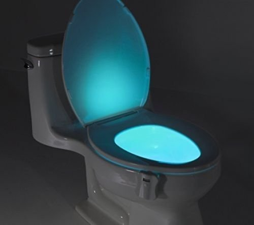 Toilet light,Stoga Motion Activated / Light Sensitive LED Toilet Nightlight Automatic Motion Sensor Bathroom Lamp-Operated Night Light(8 color) (Heat Lamp Battery Operated compare prices)