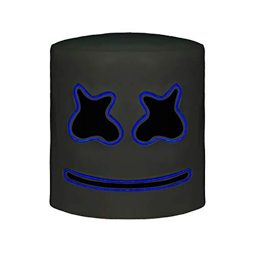 Top 10 DJs Marshmello Helmet Music Festival Marshmallow Head Mask Novelty Costume Party Rubber Latex Mask Blue -
