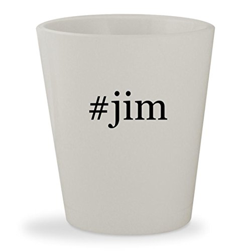 #jim - White Hashtag Ceramic 1.5oz Shot - Jim Glasses Harbaugh