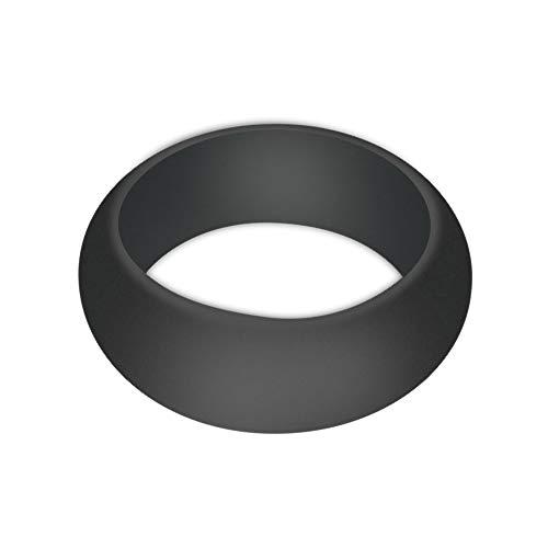 - Men Rings Black Diamond,1X Silicone Wedding Engagement Ring Men Women Rubber Band Outdoor Sport,D12,12#