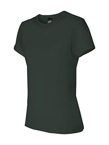 Hanes 4.5 oz Women's NANO-T Lightweight Premium T-Shirt - Deep Forest - XL