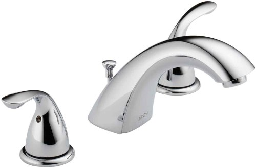 Delta Faucet 3530LF-SSMPU Classic Two Handle Widespread Bathroom Faucet, Stainless ()