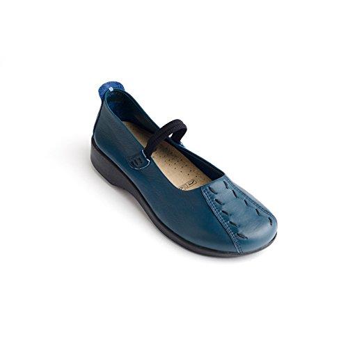 Leather Mary Janes Indigo (Arcopedico Women's Shawna Indigo Flat 39 (US Women's 8.5-9) M)
