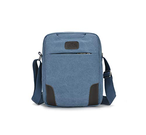 L'eau À L'usure Meceo Sacoche Multi Crossbody Shoulder Bleu Résistant Hommes Bags fonction Travel Sac Fonctionnel Toile D'épaule Loisirs wRYwfq