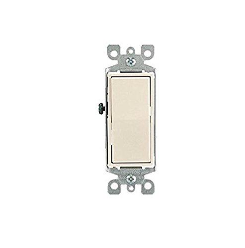 Leviton 5604-2T 15 Amp, 120/277 Volt, Decora Rocker 4-Way AC Quiet Switch, Residential Grade, Grounding, Light Almond ()