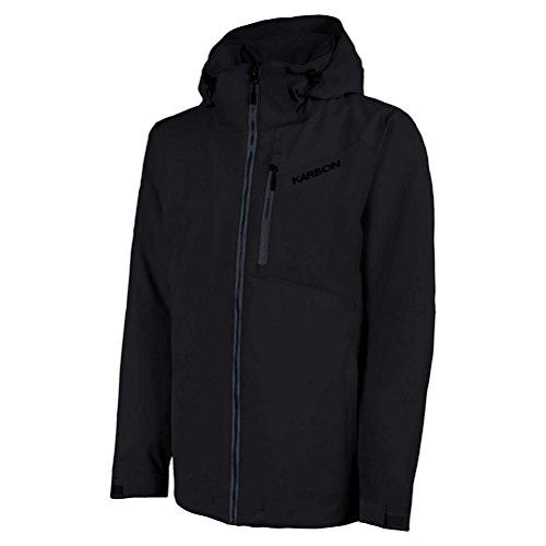 (KARBON Radar Mens Insulated Ski Jacket - X-Large/Black-Charcoal-Black)