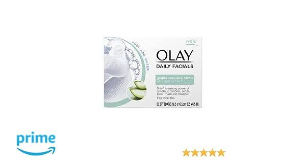 OLAY - Paños secos activados por agua 5 en 1 para limpieza facial: Amazon.es: Belleza