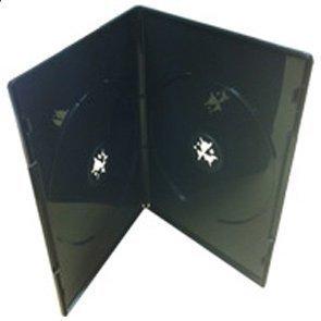 Paquete de 25 Estuches Negros Dobles para DVDs y Espina de ...