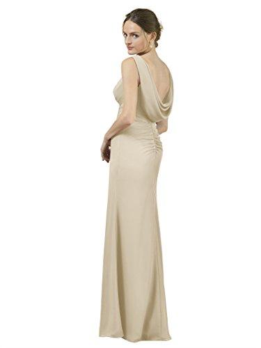 Elegant Dress Bridesmaid Gown Dresses Prom Formal Maxi Alicepub Mermaid Champagne Evening Yq4wg