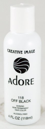 Price comparison product image Adore Semi-Permanent Haircolor #118 Off Black 4 Ounce (118ml)
