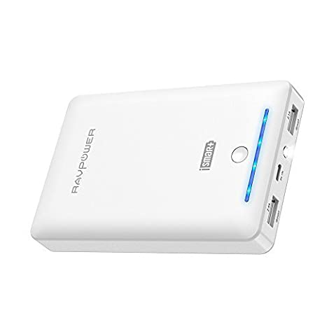 Portable Chargers 16750 RAVPower 16750mAh External Battery Pack 4.5A Dual USB Output External Phone Charger Battery Bank Power Bank (iSmart 2.0 Tech) for Nintendo Switch, iPhone 7, Galaxy S8 - (Ipad 4 Back Housing)
