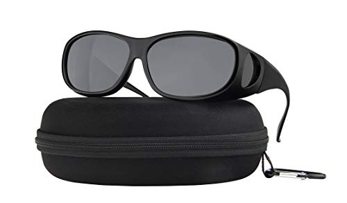 Fit Over Sunglasses Polarized Lens Wear Over Prescription Eyeglasses 100% UV Protection for Men and ()