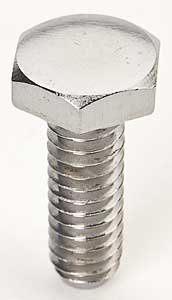 Mr. Gasket 5019 Valve Cover Bolts; Chrome Plated; 1/4 in.-20 x 0.75 in.; Hex Head; 1/4 in. AN Washers; 4 pc.;