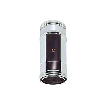 de combustión AISLADO DN aire tubo 100/120 humos de acero ...