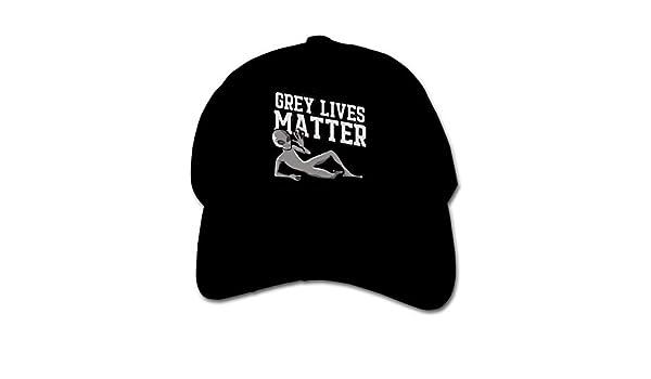 Pldmkg Grey Lives Matter Alien Childrens Hat Cap Youth Soft Adjustable Solid Baseball Hat