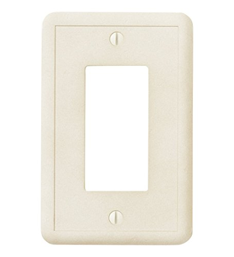Questech Ivory Decorative Wall Plate Switch Plate Outlet Cover (Single Decorator GFCI)