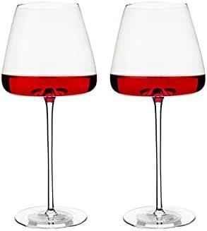 NYSJLONG Copa de Vino Tinto 2 uds, Copa de Vino, Utensilios de Cocina, Agarre de Agua, Copas de champán, Burdeos, Borgoña, Boda, Fiesta, Regalo de cumpleaños