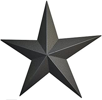 72 Inch Heavy Duty Metal Barn Star Painted Hammered Gray.