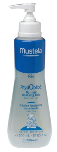 Mustela PhysiObebe No Rinse Cleansing, Diaper Area - Face 10.14 fl oz (300 ml) -3251