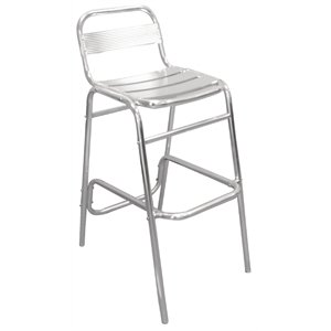 Admirable Bolero 4 X Heavy Duty Aluminium Bar Stools Commercial Pub Ocoug Best Dining Table And Chair Ideas Images Ocougorg