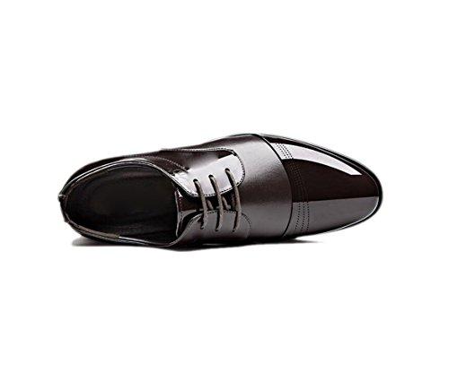 Affaires Sports Couleur Hommes Printemps Doux Occasionnels Été Rond Brown Ruban Automne Pointu Cuir Chaussures zmlsc Hiver qTxgIg